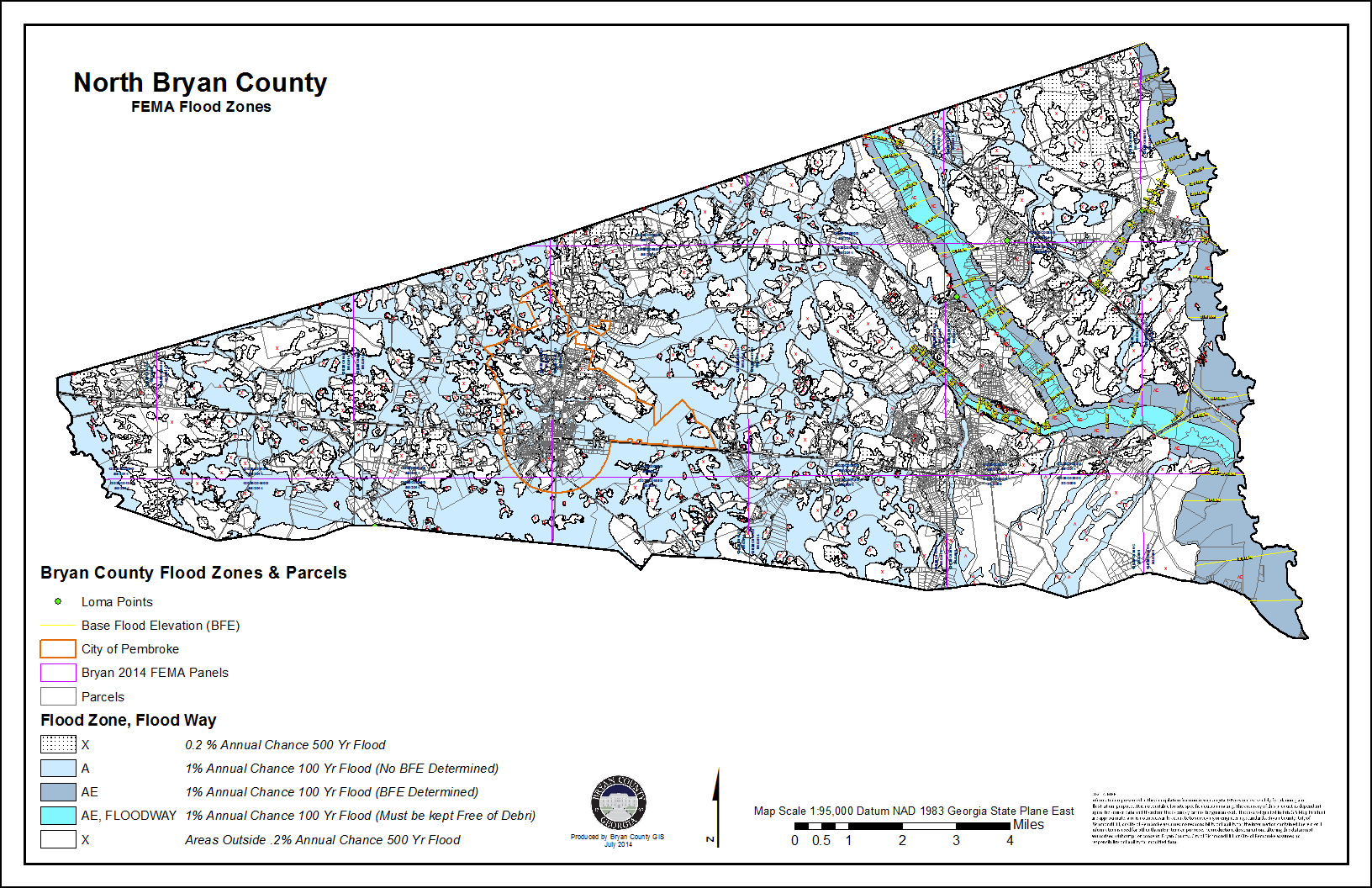 Flood Maps Bryan County - Fema base flood elevation map