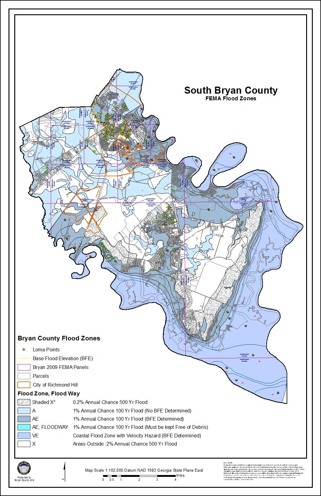 flood maps bryan county