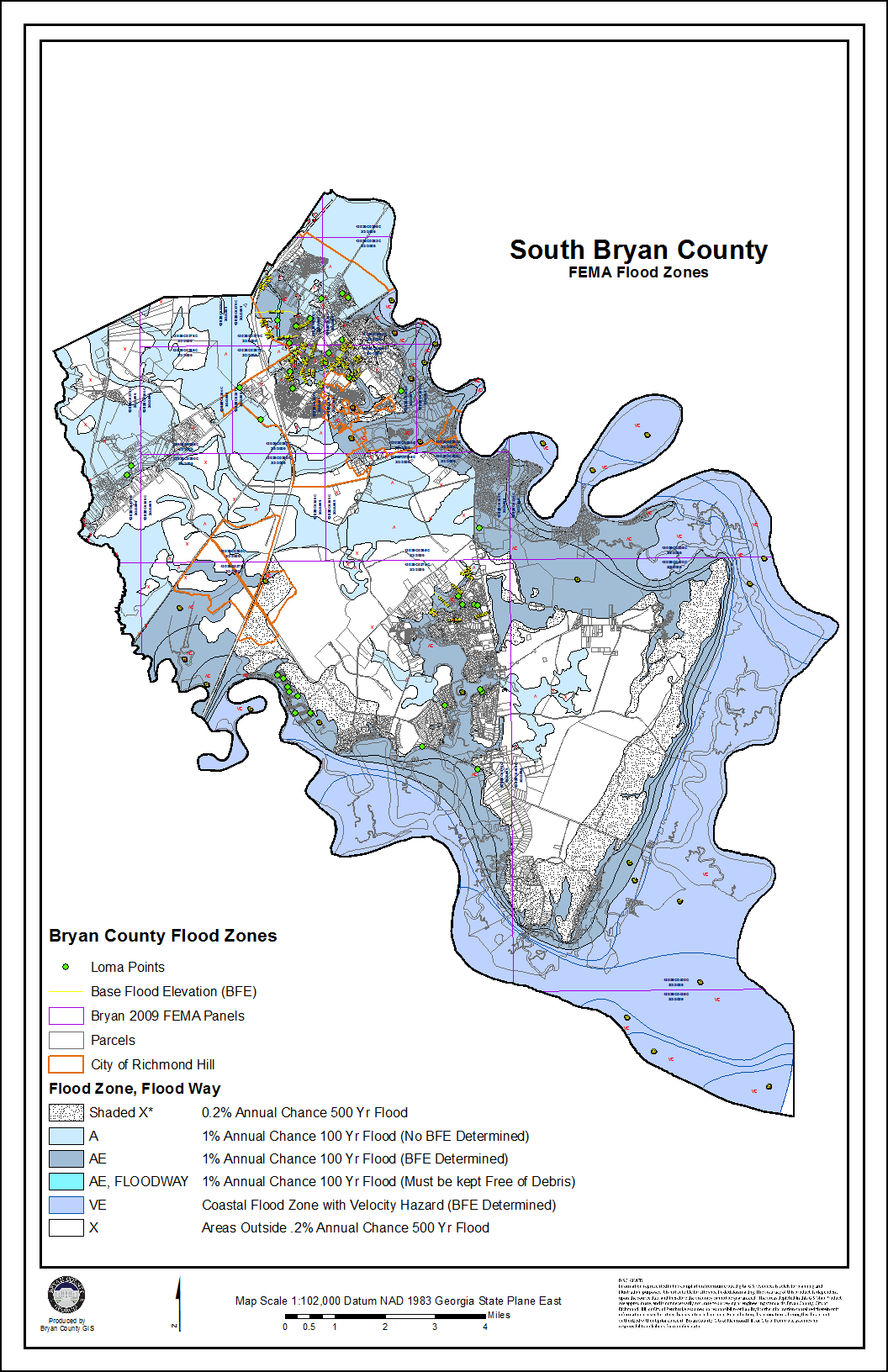 fema south bryan. flood maps  bryan county